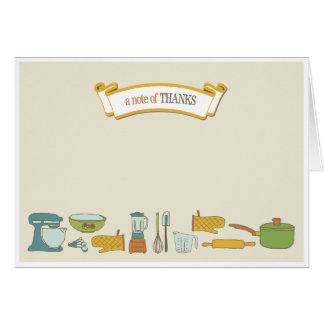 Küchen-Brautparty danken Ihnen zu kardieren Mitteilungskarte