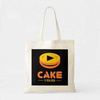 Kuchen durch Sozialmedien Tragetasche