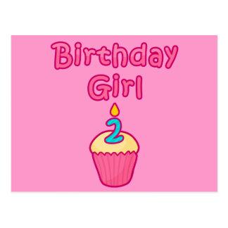Kuchen-Geburtstags-Mädchen 2 Postkarte