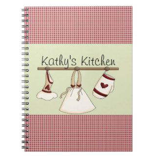 Küchen-Herz-Notizbuch Spiralblock