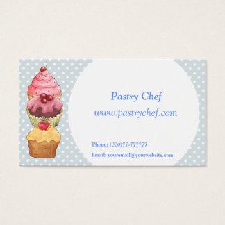Kuchen-Kuchen-Gebäck Visitenkarten