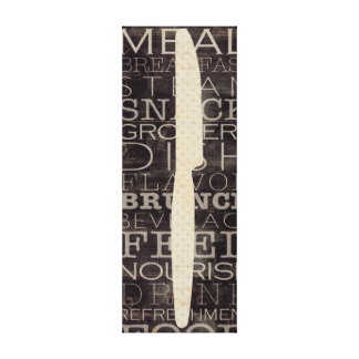 Küchen-Messer mit Wörtern Galerie Falt Leinwand