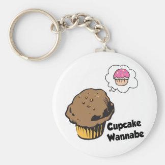 Kuchen-Möchtegern-Muffin Schlüsselanhänger