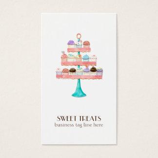 Kuchen-Nachtisch-Backen-Bäckerei-Geschäfts-Paket Visitenkarte