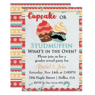 Kuchen-oder Bolzen-Muffin-Babyparty-Einladung Karte