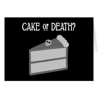 Kuchen oder Tod? Karte
