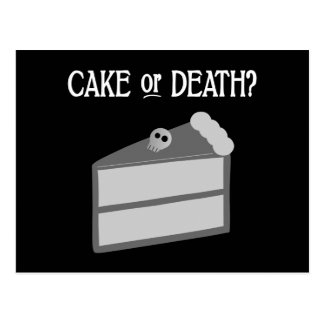 Kuchen oder Tod? Postkarte