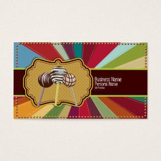 Kuchen-Pop-Bäckerei-Retro Visitenkarte