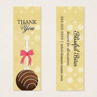 Kuchen-Pop dankt Ihnen etikettiert Mini Visitenkarte