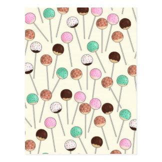 Kuchen-Pop-Entwurf Postkarte