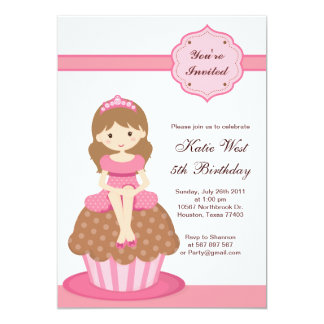 Kuchen-Prinzessin Birthday Invitation 12,7 X 17,8 Cm Einladungskarte