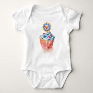 Kuchen-Sammlungs-Blau Baby Strampler