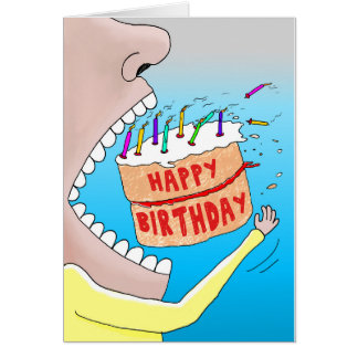 Kuchen-Schwalben-Geburtstags-Karte Grußkarte