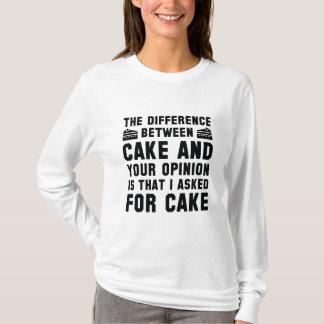 Kuchen und Ihre Meinung T-Shirt