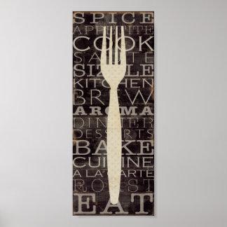 Küchen-Wörter Poster