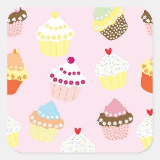 Kuchenaufkleber Quadratischer Aufkleber