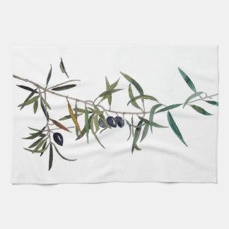 Küchenhandtuch mit Aquarell des Zweigs des Handtuch