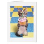 Kuchenkatzen-Geburtstagskarte