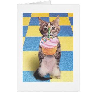 Kuchenkatzen-Geburtstagskarte Grußkarte