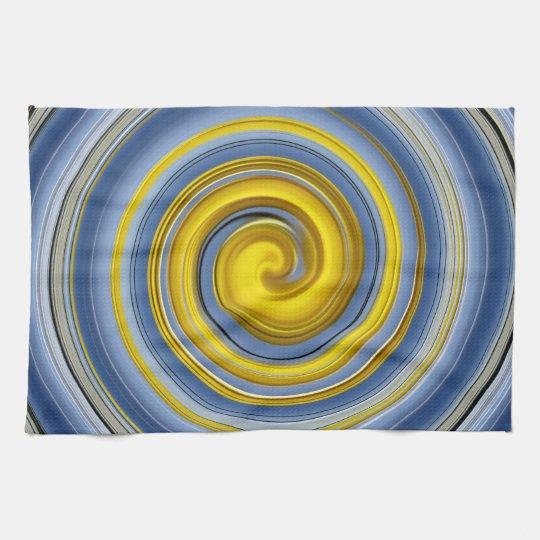 Küchentuch gelb-blaue Spirale