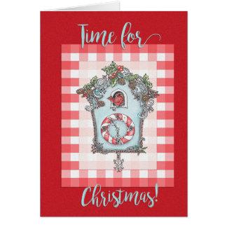 Kuckucksuhr Weihnachtskarte Karte