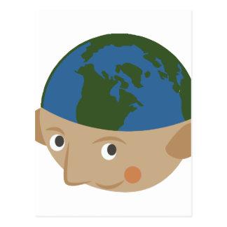 Kugel-Kopf Postkarte