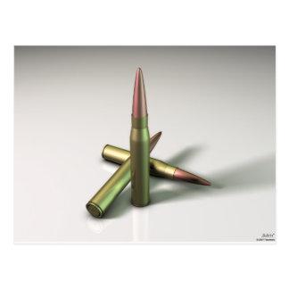 Kugel-Munition Postkarte