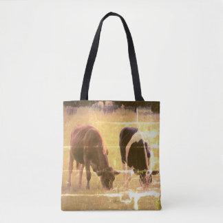 Kuh-Fotografie-Gewohnheit ganz vorbei - drucken Tasche