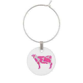 Kuh-heißes Rosa-und Weiß-Silhouette Glasmarker