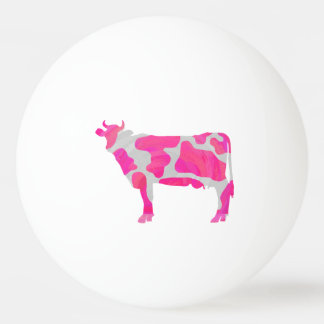 Kuh-heißes Rosa-und Weiß-Silhouette Ping-Pong Ball
