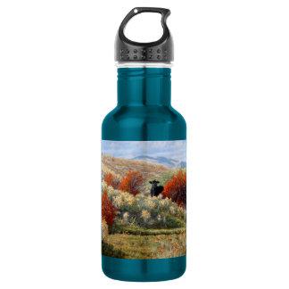 Kuh in der Fall-Einstellungs-Wasser-Flasche Edelstahlflasche