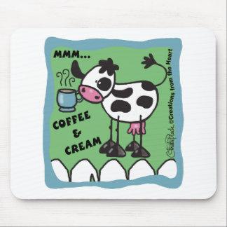 Kuh mit Kaffeetasse fasste… Kaffee mmm und cre ein Mauspad