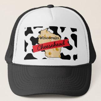 Kuh-Muster-Hut Wisconsins Cheesehead Truckerkappe