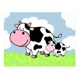 Kuh und Baby Postkarte