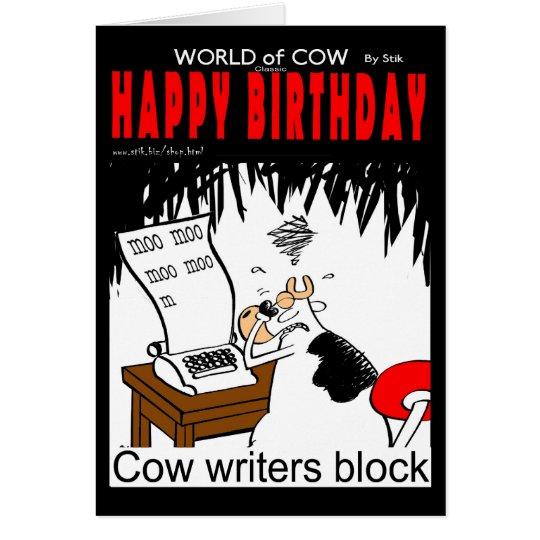 Kuh-Verfasser-Block Grußkarte