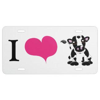 Kühe der Liebe I US Nummernschild