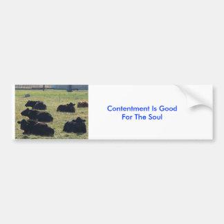 Kühe, Zufriedenheit ist für das Soul gut Autoaufkleber