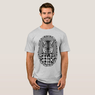 Kühlen Sie heraus lässigen überprüften Fox-Typ T-Shirt