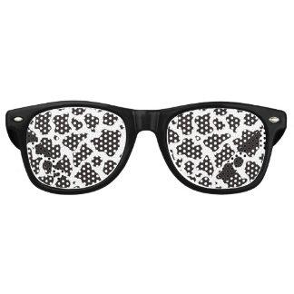 Kuhmusterhintergrund Retro Sonnenbrillen