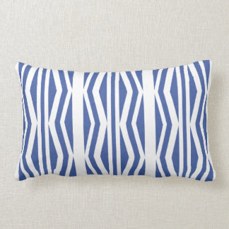 Küken-geometrisches blaues weißes Muster Lendenkissen