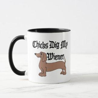 Küken graben mein Dackel-Deutsch-Geschenk Tasse