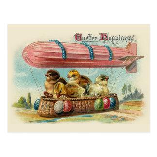 Küken in der rosa schalldichten Zelle Vintages Postkarte
