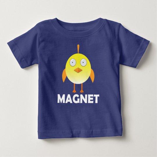 Küken-Magnet - Baby-feiner Jersey-T - Shirt