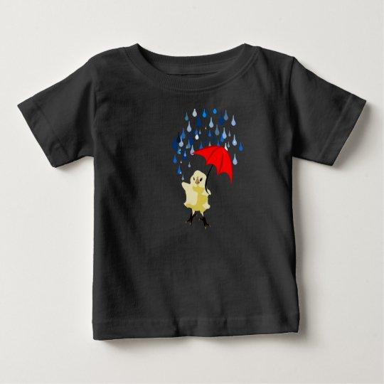 Kükentanzen mit Regentropfen Baby T-shirt