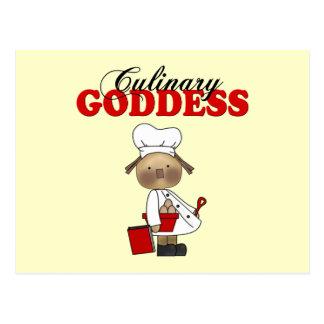 Kulinarische Göttin Postkarte