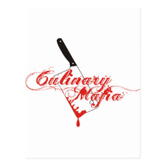Kulinarische Mafia Postkarte