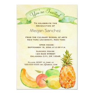 Kulinarischer SchulAbschluss 12,7 X 17,8 Cm Einladungskarte