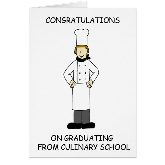 Kulinarischer Schuldamenabsolvent, Glückwünsche Karte