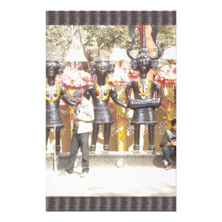 Kulturelle Showstatue Indiens der Musikerkünstler Briefpapier
