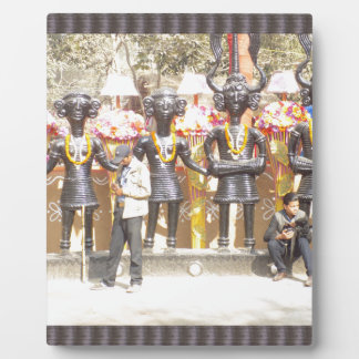 Kulturelle Showstatue Indiens der Musikerkünstler Fotoplatte